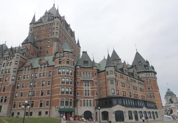 Le château Frontenac à Quebec