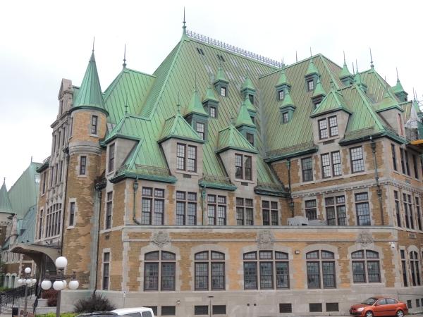 La gare de Québec et son toit en cuivre