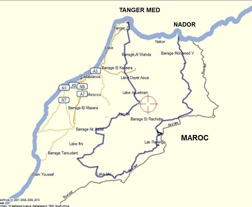 Trajet Maroc 2017