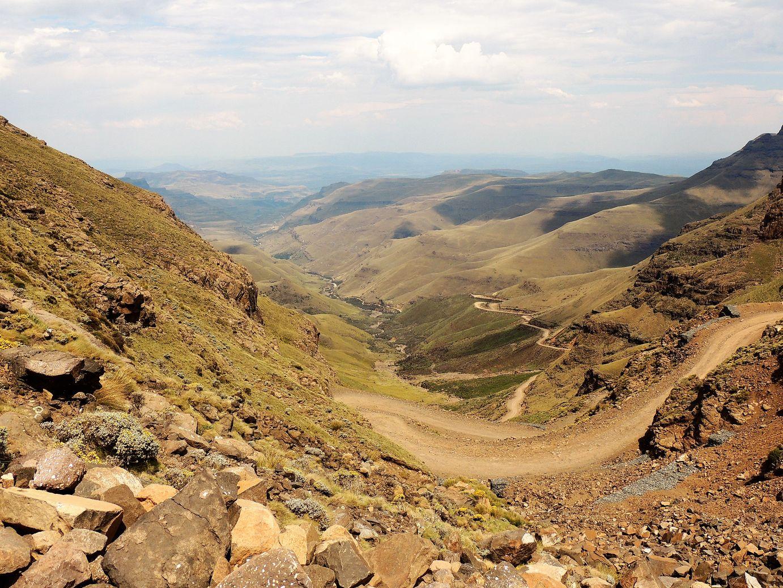 La Sani Pass vue d'en haut