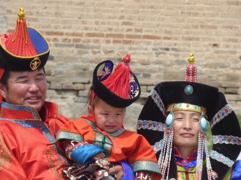 844 Portrait de famille mongole