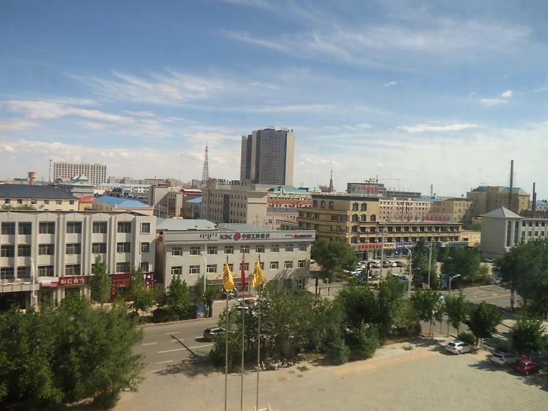 La ville d'Herenhot vue de ma chambre d'hôtel.